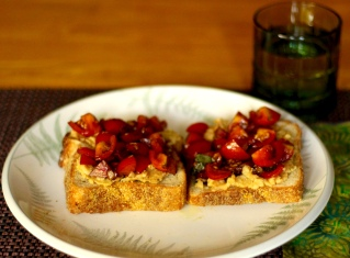 Bean Spread with Tomatoes Crostini